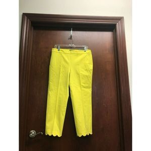 Talbots Yellow Capri Pant Chatham Crop Slim Leg 10